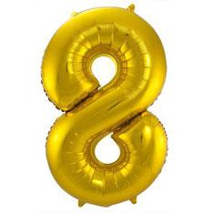 Folieballon Goud 8 € 3,99 86cm