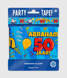 Afzetlint 12m  € 2,50 Abraham Cartoon