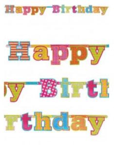 Letterslinger Glitter Happy Birthday ca. 166 cm € 3,75