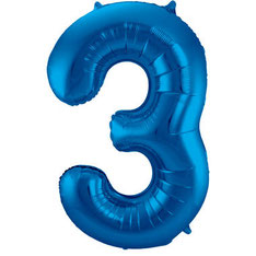 Folieballon Blauw 86 cm € 3,99