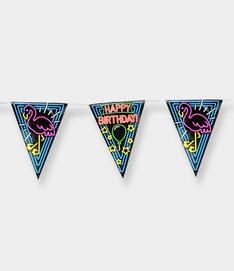 Vlaggenlijn 10m € 2,50 Neon Happy Birthday