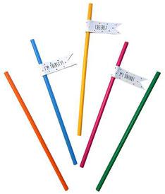 Papieren Rietjes Festive Colors €1,85 20stuks