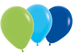 Ballonnen Boys blauw/groen €2,25 8stuks