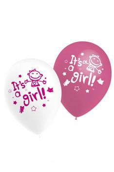 Ballonnen It's a Girl! € 3,25 10 stuks