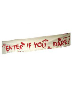Wanddecoratie Enter if you dare € 4,65 180x32 cm