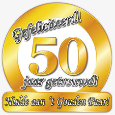 Huldeschild € 4,99 50 jaar getrouwd
