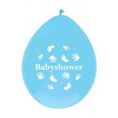 Ballonnen babyshower blauw 6 st € 2,25