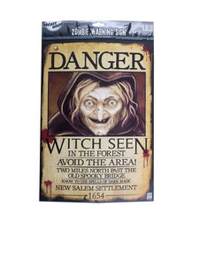 Poster Danger Witch seen € 2,50 43 x 29 cm