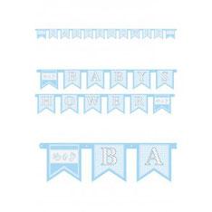 Letterslinger BABYSHOWER blauw € 1,95