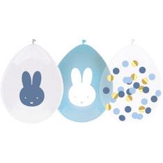 Ballonnen € 3,95 Nijntje blauw confetti 5 stuks