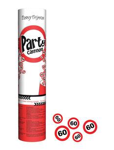 Confetti Kanon € 2,95 verkeersbord 60