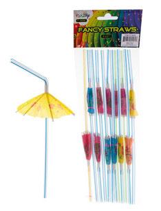 Rietjes met parasol €1,95 12stuks