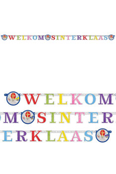 Letterslinger Welkom Sinterklaas gekleurd € 2,50