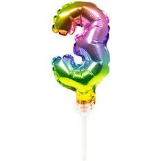 Folieballon Taart Topper Regenboog  € 1,50