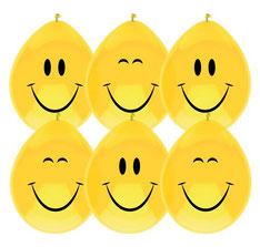 Ballonnen Smile € 2,50 6 stuks