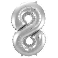 Folieballon Zilver 8 € 3,99 86cm