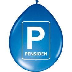 Ballonnen Pensioen 8 stuks € 2,75