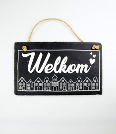 Wandbord leisteen € 9,95 Welkom