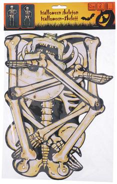 Hangdecoratie skelet 80 cm € 2,50