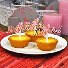 "Cupcake prikker drinkfles ""It's a girl"" 12 st € 5,50"