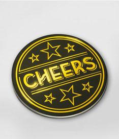 Onderzetters glossy Cheers € 4,95 6 stuks
