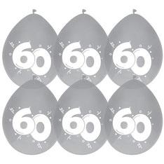 Ballonnen diamant 60 6 stuks € 2,25