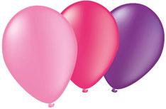 Ballonnen Boys roze/paarsn €2,25  8stuks