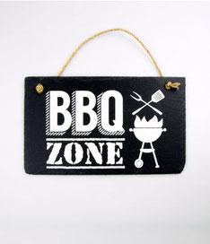 Wandbord leisteen € 9,95 BBQ zone