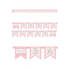 Letterslinger BABYSHOWER roze € 1,95