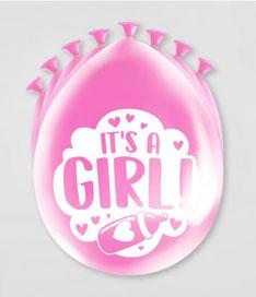 Ballonnen it's a girl! 8 stuks € 2,25