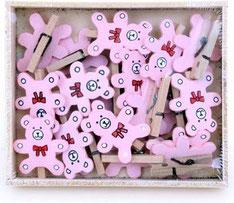 Wasknijpers beertje roze € 2,95 19st.