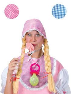 Baby verkleedset volwassenen roze of blauw €5,95