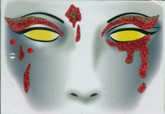 Gezicht sticker Halloween Bloody Eyes € 2,25