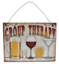 Wanddecoratie Group Therapy €3,95 metaal 20x15 cm