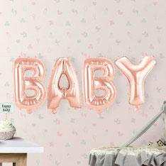 Folieballon BABY roségoud 40 cm hoog € 4,95