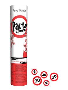 Confetti Kanon € 2,95 verkeersbord 30