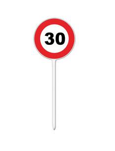 Prikkers € 1,50 Verkeersbord 30 plastic 12 stuks