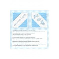 Servetten babyshower blauw 20 st 33x33 cm € 3,25