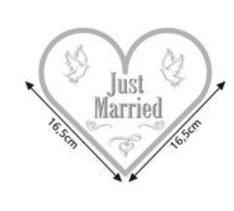 Servetten Just Married hartvorm 20 stuks 33x33 cm € 4,50