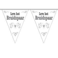 Vlaggenlijn Leve het Bruidspaar Duiven 10 m €2,50