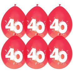 Ballonnen robijn 40 6 stuks € 2,25