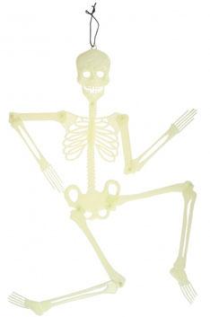 Hangdecoratie skelet Glow in the dark 90 cm € 3,95