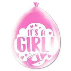Party ballonnen It's a girl! 8 stuks € 2,25