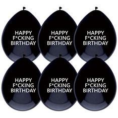 Ballonnen Happy F*cking Birthday € 2,50  6 stuks