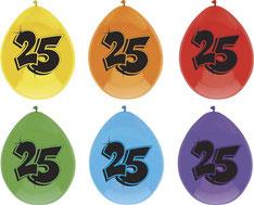 Ballonnen 25 6 stuks € 2,25
