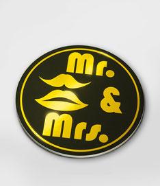 Onderzetters glossy Mr & Mrs  6st € 4,95