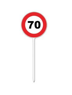Prikkers Verkeersbord 70 € 1,50 (plastic) 12 stuks