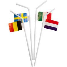 Rietjes met Europese vlaggen €1,95  10stuks