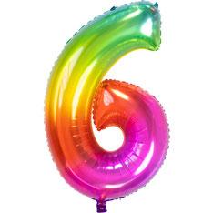 Folieballon Rainbow 6 € 3,99 86cm