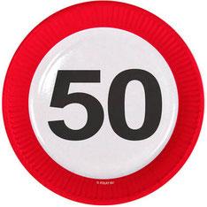 Bordjes € 3,50 8 stuks 50 verkeersbord